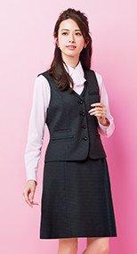 LS2201 BONMAX/オプティカルチェック Aラインスカート 36-LS2201