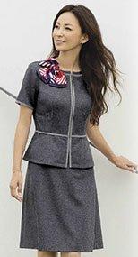 S-16430 16431 SELERY(セロリー) 高通気ニットのAラインスカート(53cm丈) 無地 99-S16430