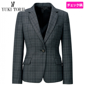 YT4918 ユキトリイ ジャケット チェック