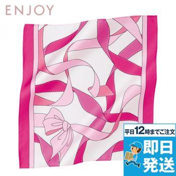 EAZ505 enjoy ピンクリボン オリジナルミニスカーフ