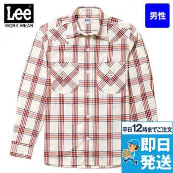 LCS46006 Lee ウエスタンチェック長袖シャツ(男性用)