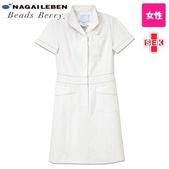 ATL1097 ナガイレーベン(nagaileben) ビーズベリー アツロウタヤマ 半袖ワンピース(女性用)