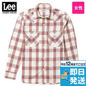 LCS43006 Lee ウエスタンチェック長袖シャツ(女性用)