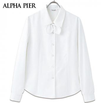 AR1420 1421 1422 アルファピア さらりと快適な肌触りの長袖ブラウス(リボン付き)