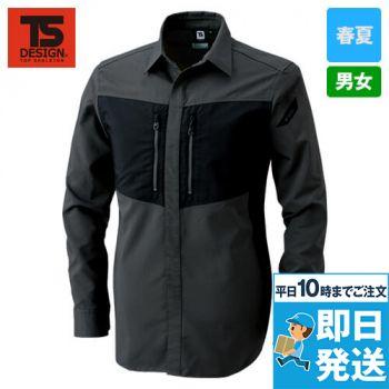 84605 TS DESIGN ハイブリッドストレッチシャツ(男女兼用)