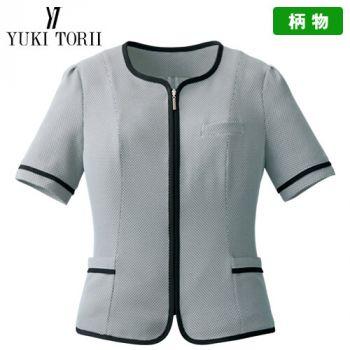 YT1716 ユキトリイ オーバーブラウス チェック(高通気) 40-YT1716