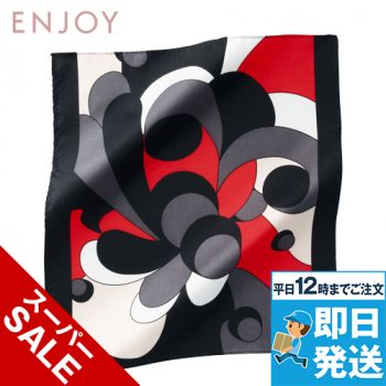 EAZ486 enjoy モダンな印象の人に気の幾何学柄のミニスカーフ 98-EAZ486