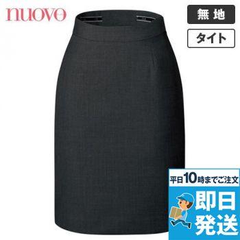 FS45812 nuovo(ヌーヴォ) バックアップウエストタイトスカート 無地 91-FS45812