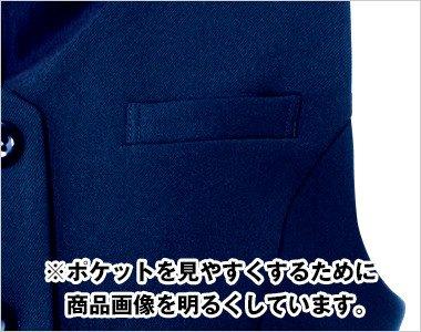 左胸ポケット ペン・小物が収納できます。