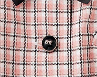 リボンがかわいい光沢のある黒いボタン