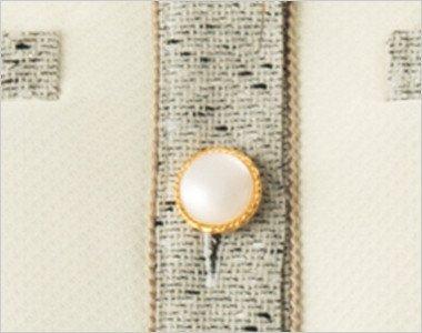 ゴールド縁で真珠のようにきれいなボタン