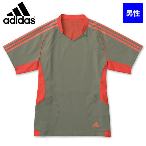 SMS113-12 14 15 18 アディダス スクラブ(男性用) 左胸ファスナー 着やすい 大容量腰ポケット