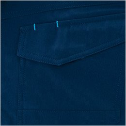 左胸 便利なペン差し付きポケット