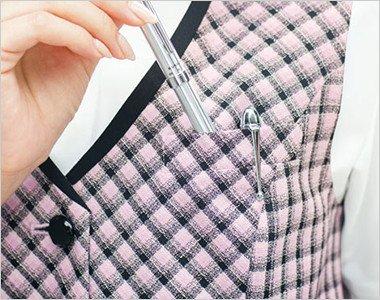 ペンを挿せる胸ポケット