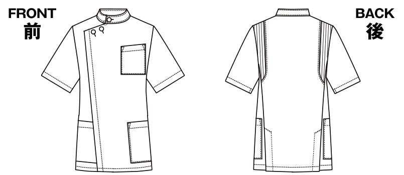 1010CR FOLK(フォーク) メンズケーシーのハンガーイラスト・線画