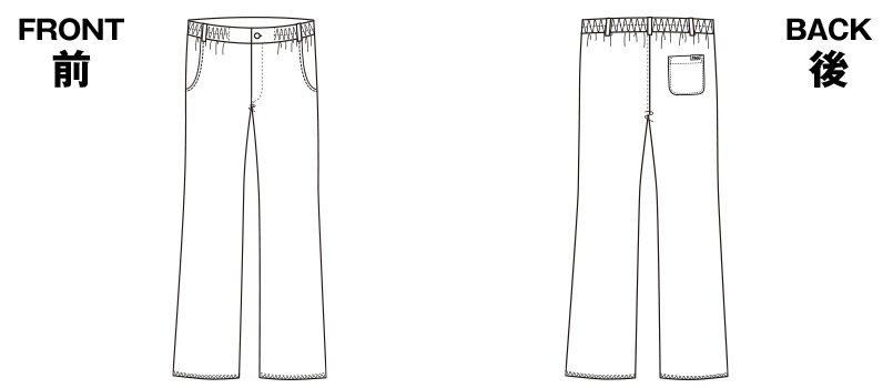 5021SC FOLK(フォーク) メンズパンツのハンガーイラスト・線画