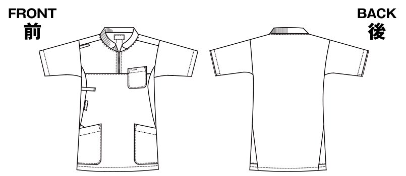 7037SC FOLK(フォーク) ニット付きプルオーバージャケット(男女兼用)のハンガーイラスト・線画