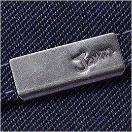左胸ポケット ロゴ入りメタルクリップ付