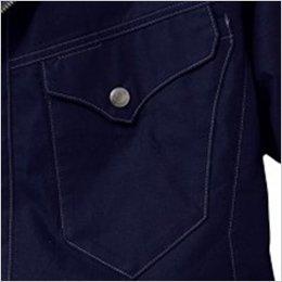 左胸 デザインポケット