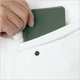 左胸 二重ポケット