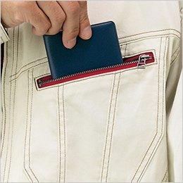 左胸 ファスナーポケット