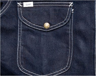 フラップ付の左胸ポケット