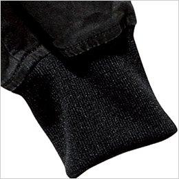 伸縮性に優れた袖リブ