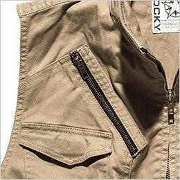 胸ファスナーポケット