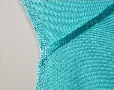 下袖と脇下に消臭糸を縫製糸として使用
