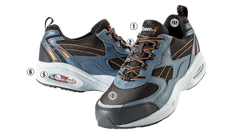 ジーベック 85109静電防水安全靴 スチール先芯のこだわりポイント
