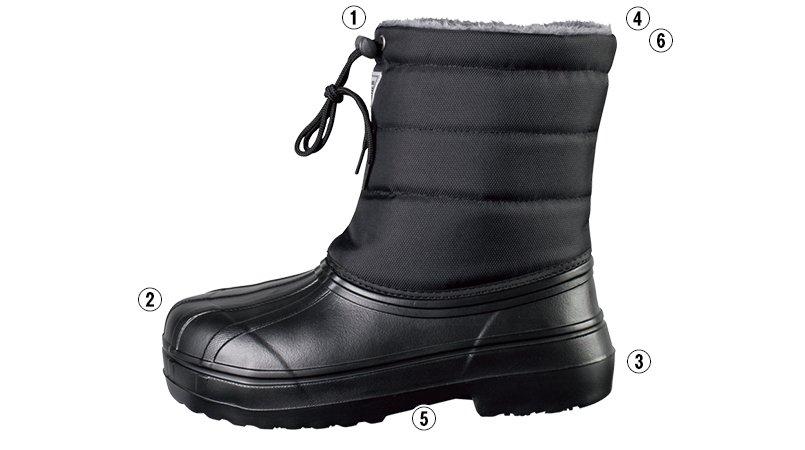 ジーベック 85714ボア付きEVA防寒長靴(ブーツ)のこだわりポイント