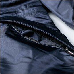 ファスナー付きサイドポケット