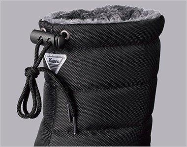 履き口部分にはストッパー付きなので、手袋をしたままでも履き口調整が簡単。