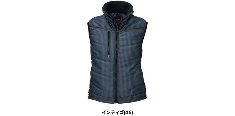バートル 5244 ヘリンボーン防寒ベスト(男女兼用) 色展開