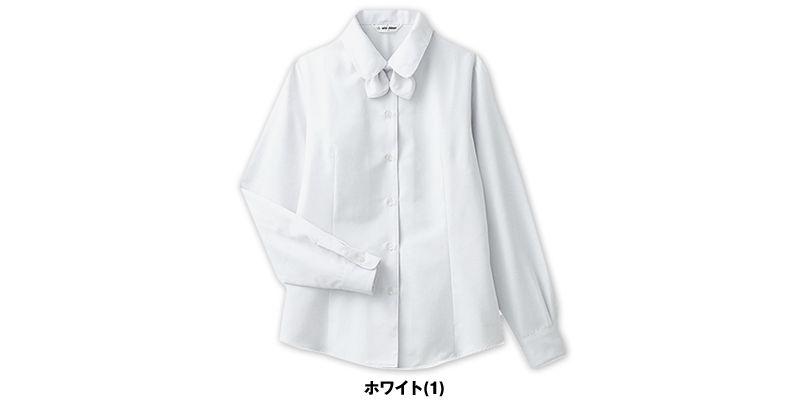 BL-6814 チトセ(アルベ) [通年]プチプライスでお得!リボン付きブラウス/長袖(女性用) 色展開