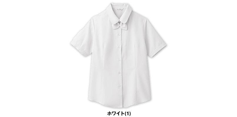 BL-6815 チトセ(アルベ) [通年]ブラウス/半袖 リボンタイ付き(女性用) 色展開