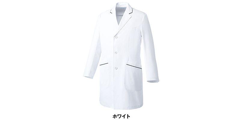 MZ-0108 ミズノ(mizuno) パイピング メンズドクターコート・シングル(男性用) 色展開