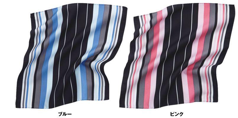 EAZ466 enjoy 都会な印象のマルチストライプのミニスカーフ 色展開