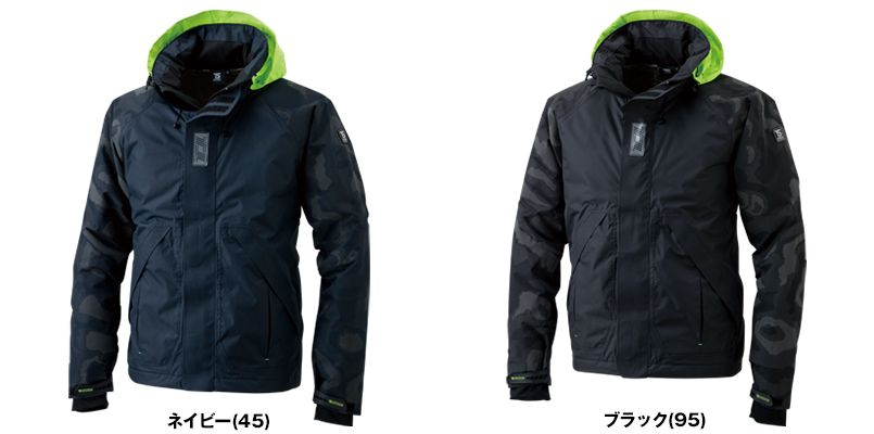18236 TS DESIGN メガヒートフラッシュ防水防寒ジャケット(男女兼用) 色展開