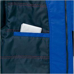 AZ6169 アイトス 光電子防風防寒ジャケット(フードイン)(男女兼用) 内ポケット