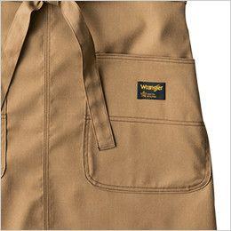 AZ64180 アイトス Wrangler(ラングラー) 胸当てエプロン(男女兼用) 両脇 大型フロントポケット