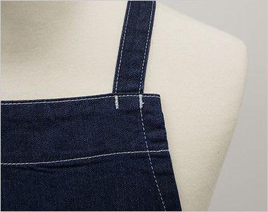 LCK79003 Lee 胸当てエプロン(男女兼用) ステッチがアクセントの肩ひも