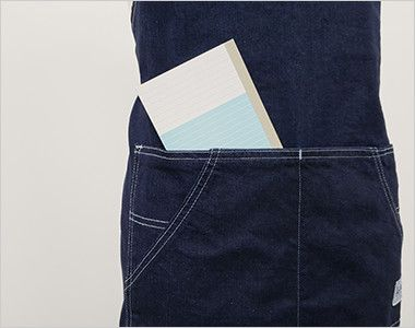 LCK79003 Lee 胸当てエプロン(男女兼用) 上から収納できる前面ポケット