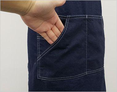 LCK79003 Lee 胸当てエプロン(男女兼用) 斜めポケット