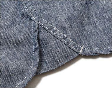 LCS43004 Lee シャンブレーシャツ/七分袖(女性用) Lee独特のガゼット(マチ付き)