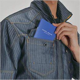 バートル 1501 [秋冬用]ヘリンボーン&T/Cソフトツイルジャケット(男女兼用) レベルブックダブル収納ポケット