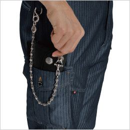バートル 1502 ヘリンボーン&T/Cソフトツイルカーゴパンツ(男女兼用) ラジポケ※出し入れ便利なポケットです