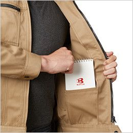 バートル 1701 T/Cソフトツイル長袖ジャケット(男女兼用) 内ポケット