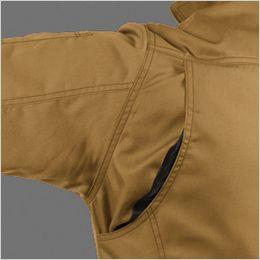 バートル 1716 [春夏用]T/Cライトチノ半袖ジャケット(男女兼用) 背アームノーフォークメッシュ・袖アームタック