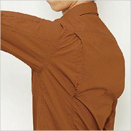 バートル 5515 [春夏用]綿100%リップクロス長袖シャツ(男女兼用) 背アームノーフォーク